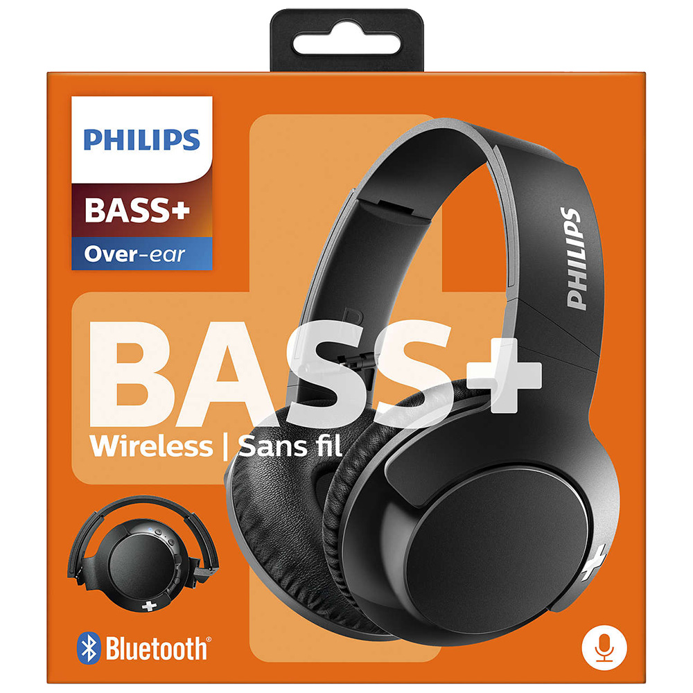 Casti Wireless   Bass + Over Ear Negru