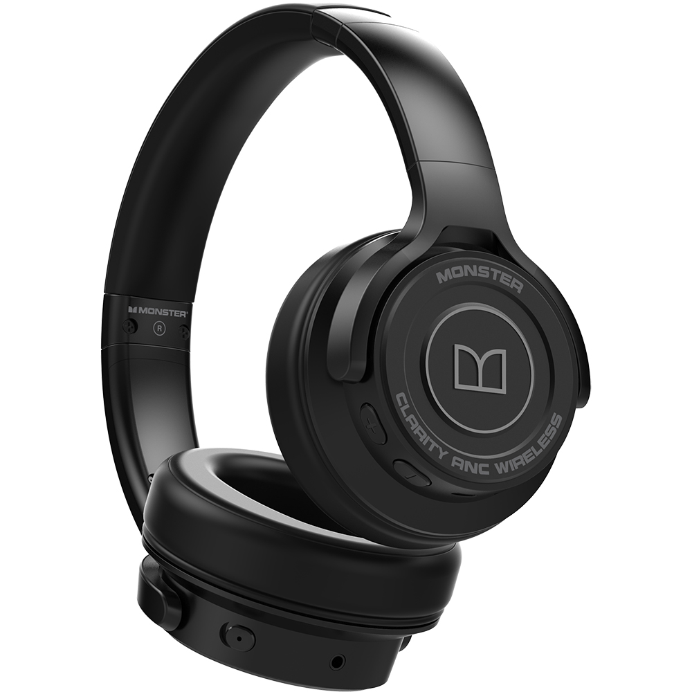 Casti Wireless Bluetooth Clarity ANC Over Ear, Microfon, Buton Control, Active Noise Cancellation, Negru