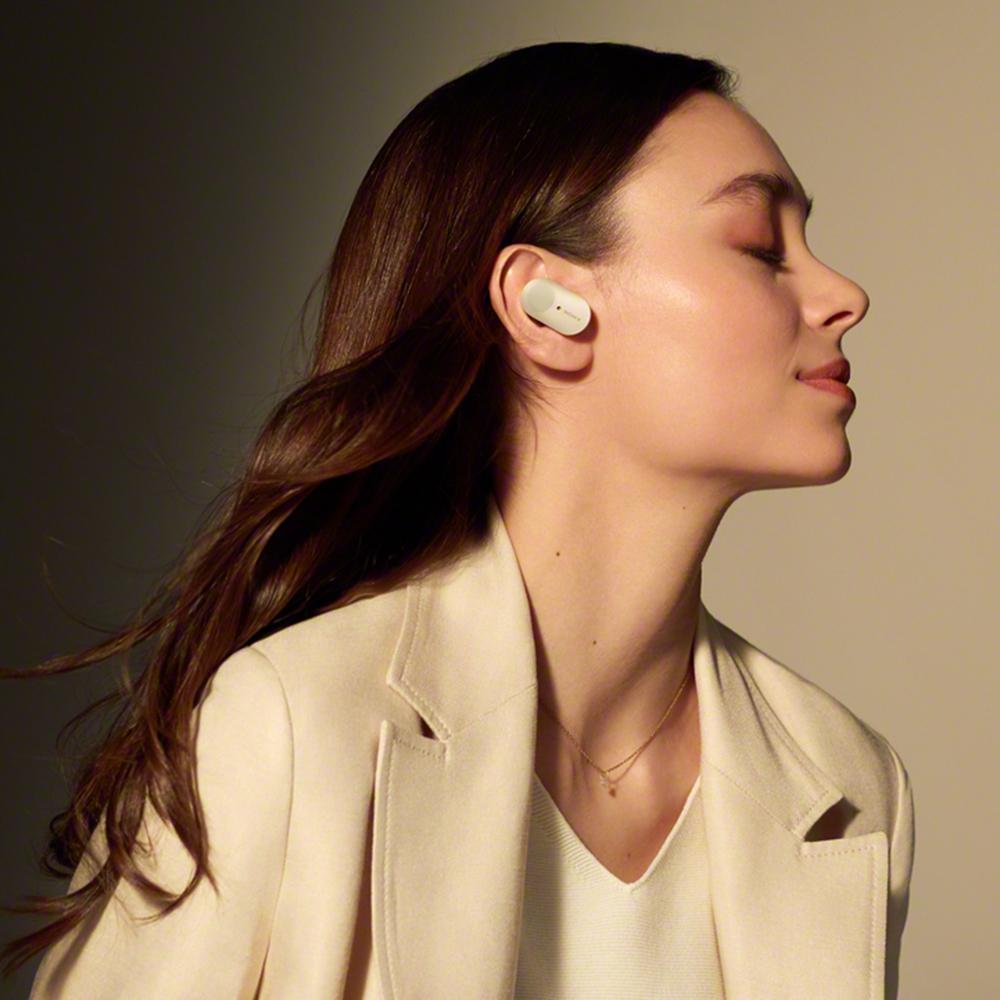 Casti Wireless Bluetooth WF-1000XM3 In Ear, Anulare Digitala A Zgomotului, Microfon, Control Tactil, Asistent Inteligent, Platinum Silver Argintiu