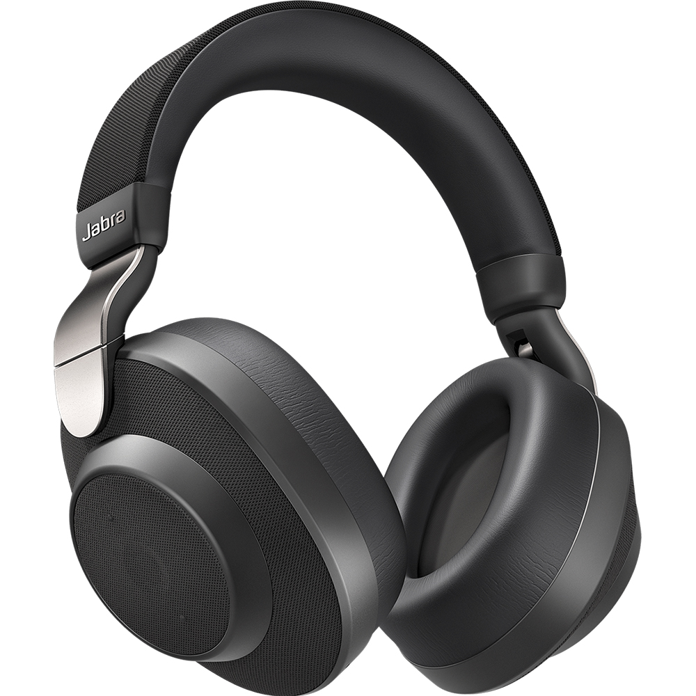 Casti Wireless Bluetooth Elite 85h Over Ear, Microfon, Active Noise Cancellation, Acces Asistent Vocal Inteligent, Multi-Connect, Titanium Black Negru