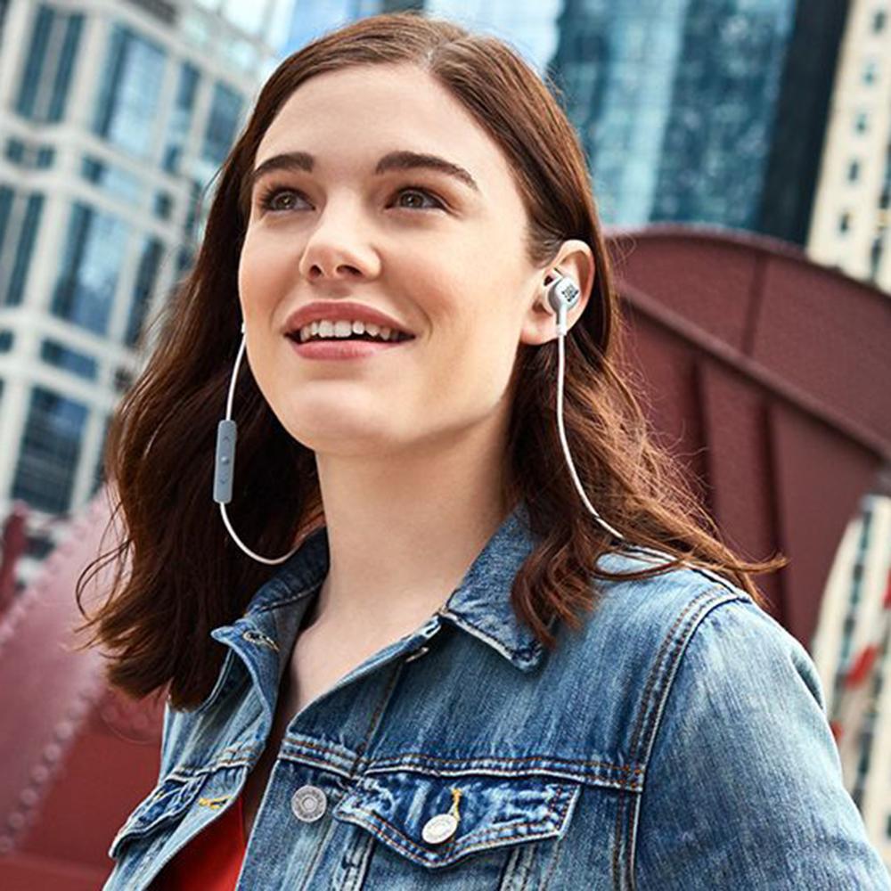 Casti Wireless Bluetooth Everest 110 In Ear, Microfon, Anularea Ecoului, Buton Control Volum, Argintiu