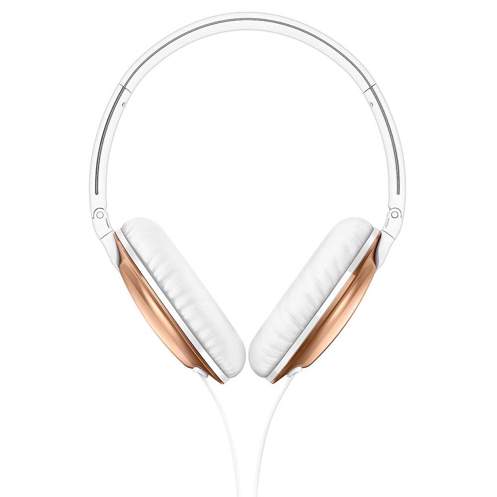 Casti Audio Flite Everlite On Ear, Microfon, Buton Control, Anularea Zgomotului Ambiental, Mufa Jack 3,5 mm, Auriu Roz