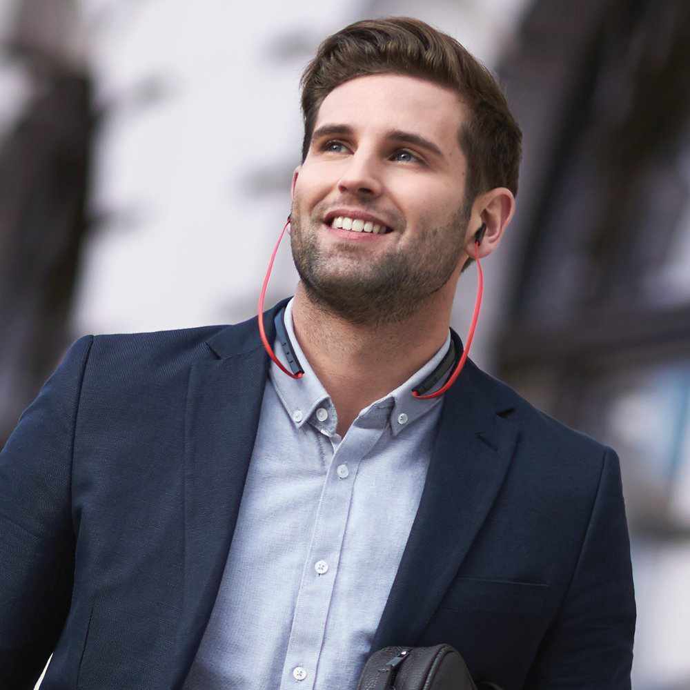 Casti Wireless   Halo Smart Rosu