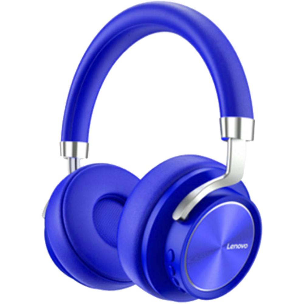 Casti Wireless HD800 Premium Over Ear, Microfon, HD, Buton Control Volum, Albastru
