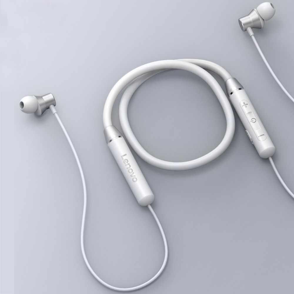 Casti Wireless HE05 Magnetic Neckband Waterproof IPX5 Alb