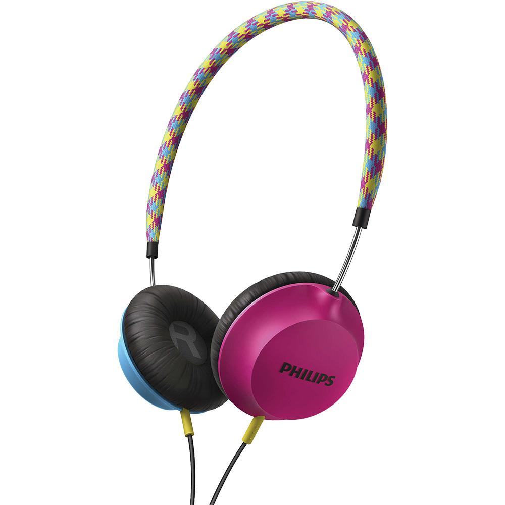 Casti Audio On Ear Roz Albastru