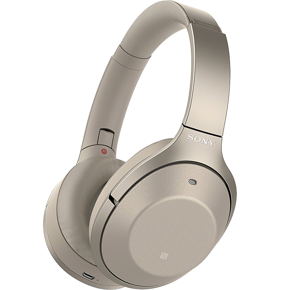 Casti Sony WH-1000XM2B, Noise canceling, Hi-Res, Wireless, Bluetooth, NFC, Auriu