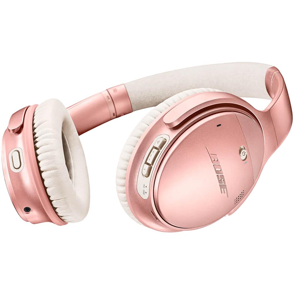 Casti Wireless Bluetooth QuietComfort 35 II Over Ear, NFC, Active Noise Cancellation, Microfon Dual, Roz