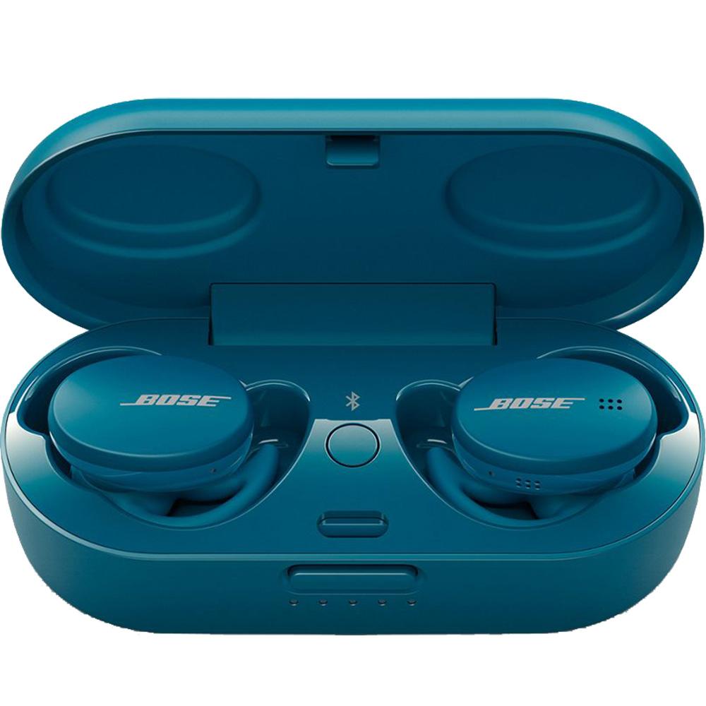 Casti Wireless Bluetooth Sport Earbuds In Ear, Touch Control, Microfon, Albastru