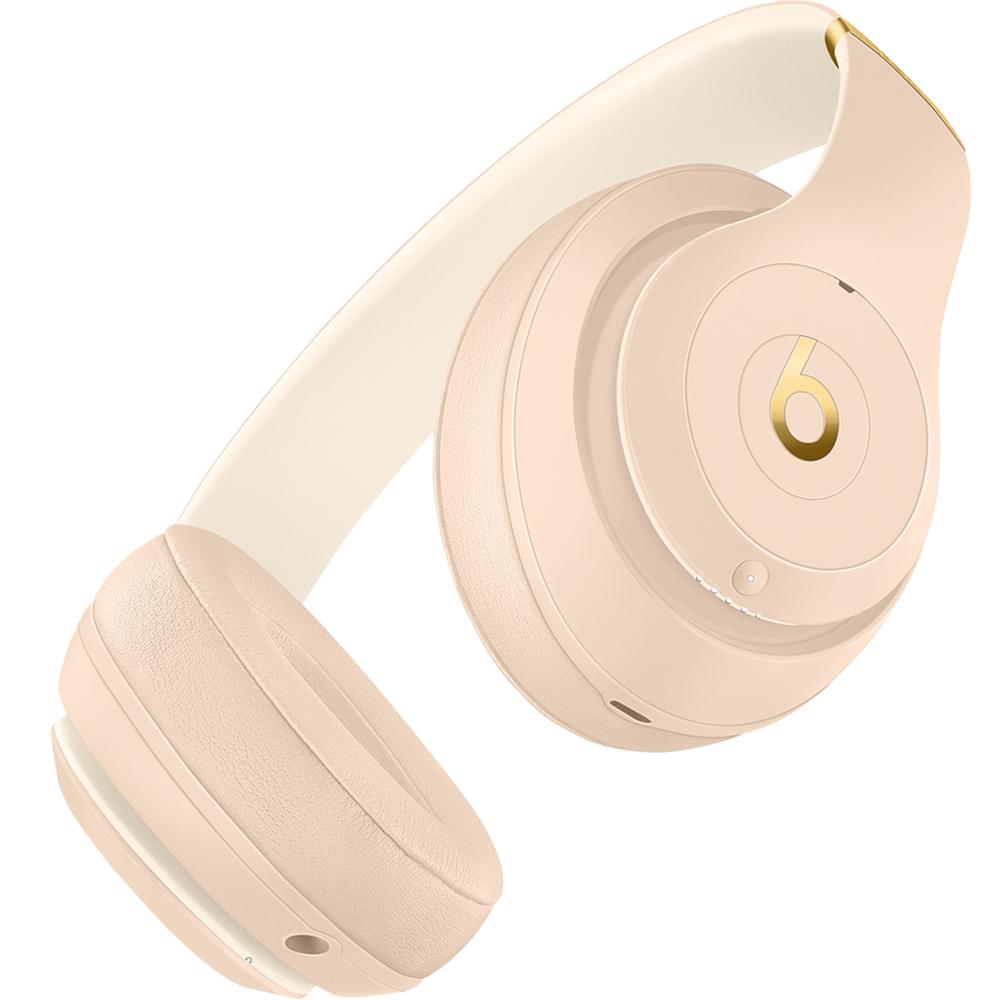 Casti Audio Wireless Bluetooth Over Ear Studio 3 Cu Adaptive Noise Cancellation, Microfon Si Buton Pentru Gestionarea Apelurilor, Playlist-ului Si A Volumului, Auriu