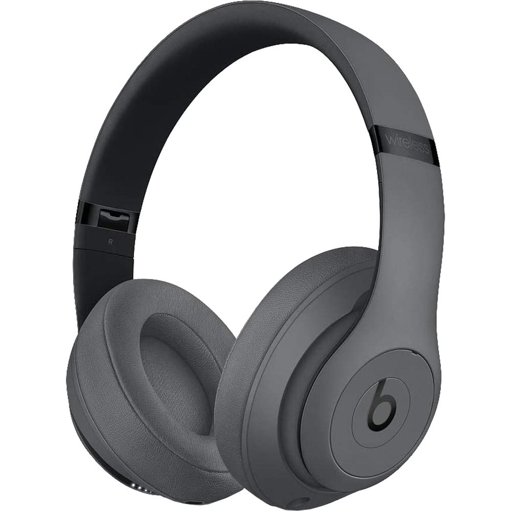Casti Audio Wireless Bluetooth Over Ear Studio 3 Cu Adaptive Noise Cancellation, Microfon Si Buton Pentru Gestionarea Apelurilor, Playlist-ului Si A Volumului, Gri