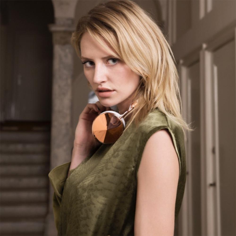 Casti Wireless   Taylor Over Ear Piele Alb Roz