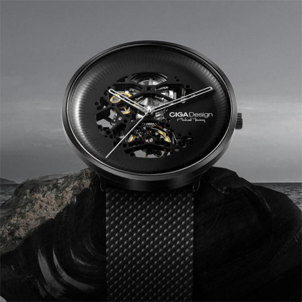 Ceas Mecanic Mi Ciga Design My Series  Negru