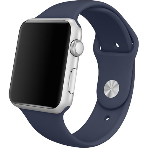 Curea Sport Albastra Midnight Pin Otel Inoxidabil Apple Watch 38MM