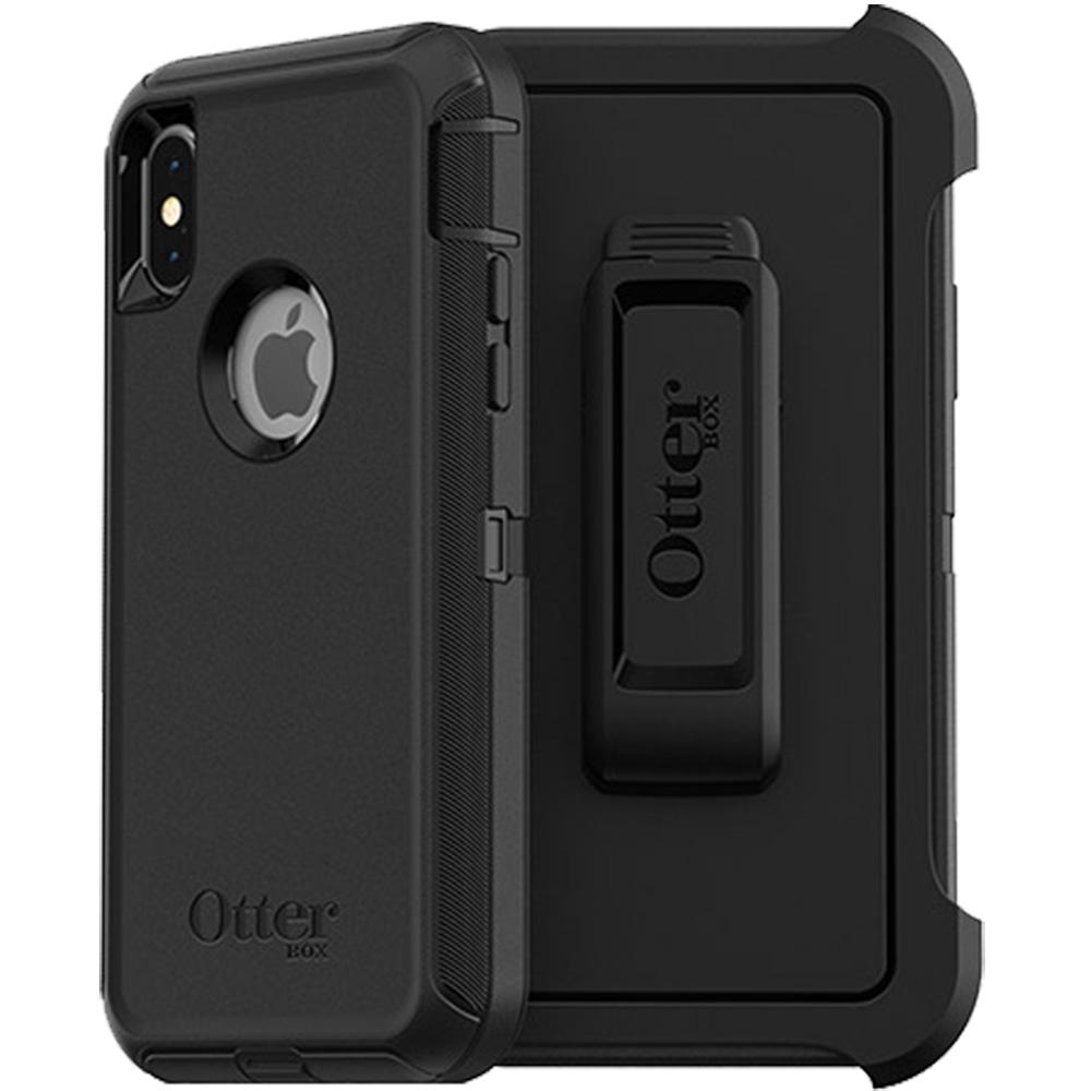 Husa Capac Spate Defender Negru APPLE iPhone X