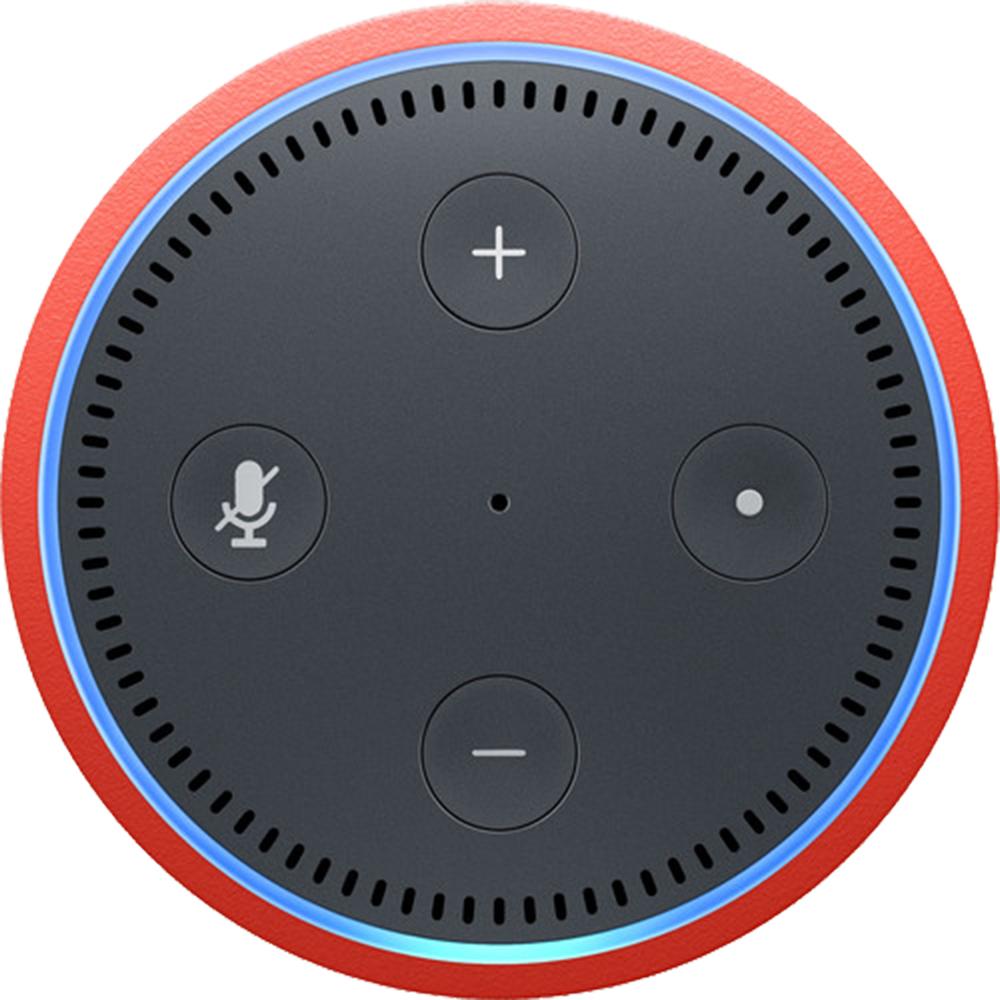 Echo Dot Kids Edition, Alexa, Control Voce, Panou Control, Microfon, Punch Red Rosu