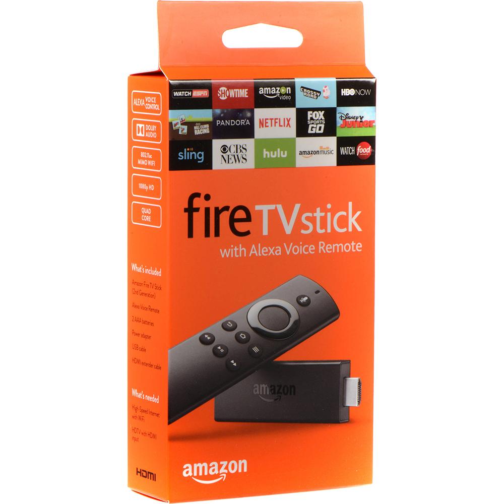 Fire TV Stick Cu Dolby Audio, 1080p HD, Quad Core + Telecomanda Cu Control Voce Alexa (2nd Generation)