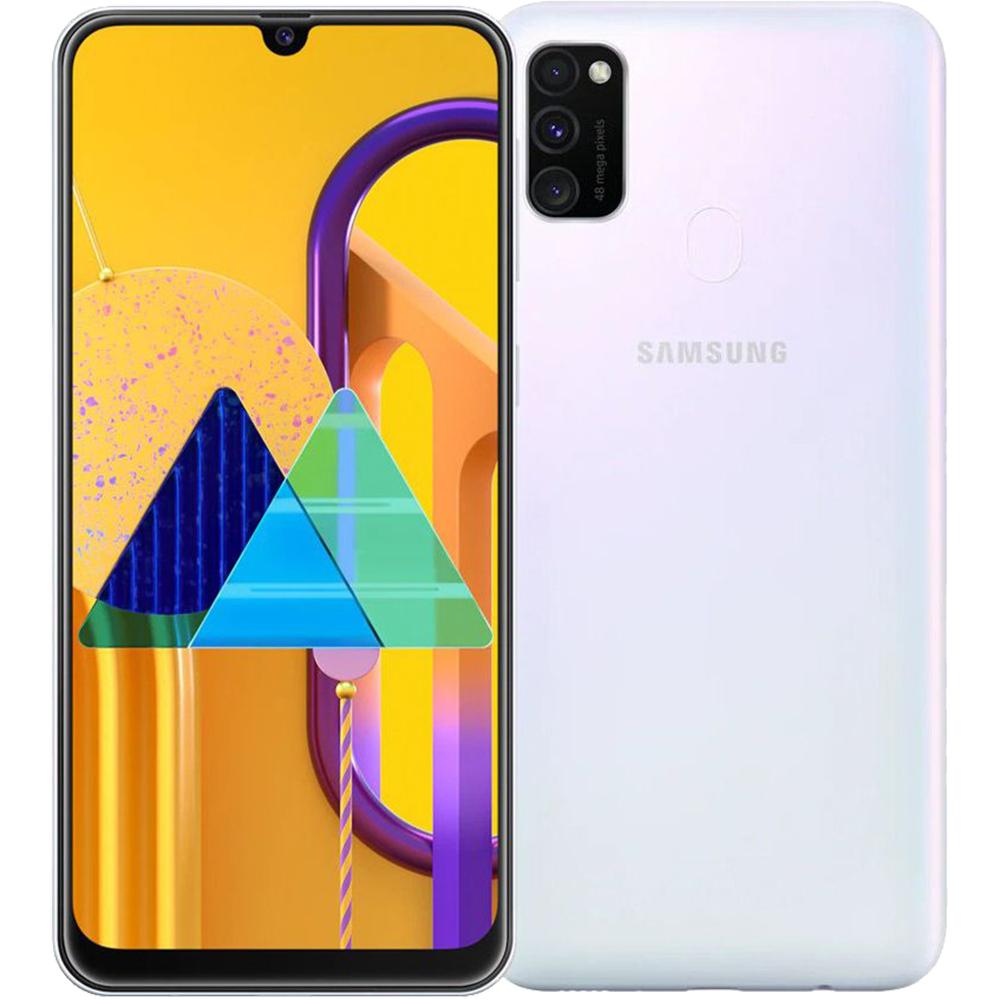 Galaxy M30s Dual Sim 128GB LTE 4G Alb Pearl 6GB RAM