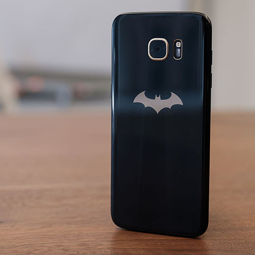 Galaxy S7 Edge Dual Sim 32GB LTE 4G Negru Versiunea Batman + Ochelari VR 3D 4GB RAM