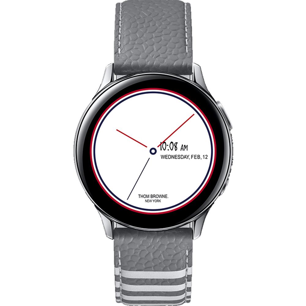 Galaxy Z Flip Dual Sim Fizic 256GB LTE 4G  8GB RAM Argintiu Thom Browne New York Edition Cu Galaxy Watch Active 2 Si Galaxy Buds Plus inclus