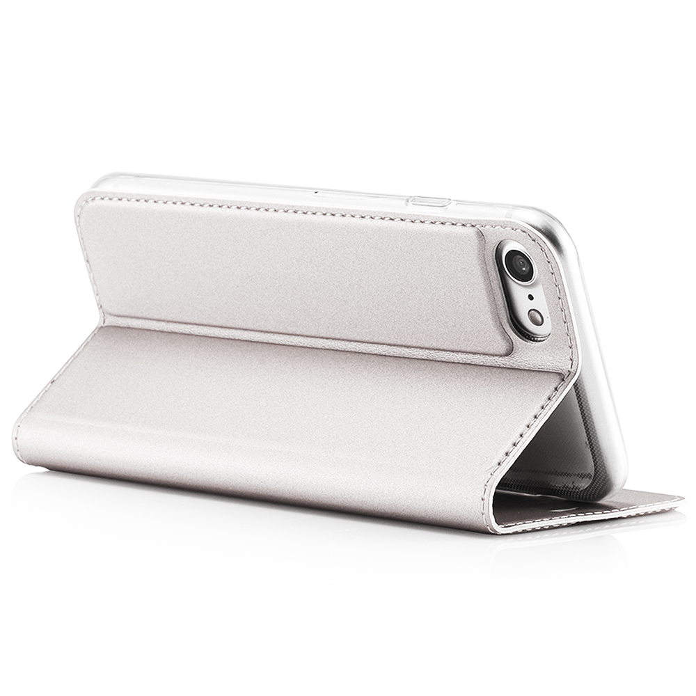 Husa Agenda Card Slot Alb Apple iPhone 7, iPhone 8