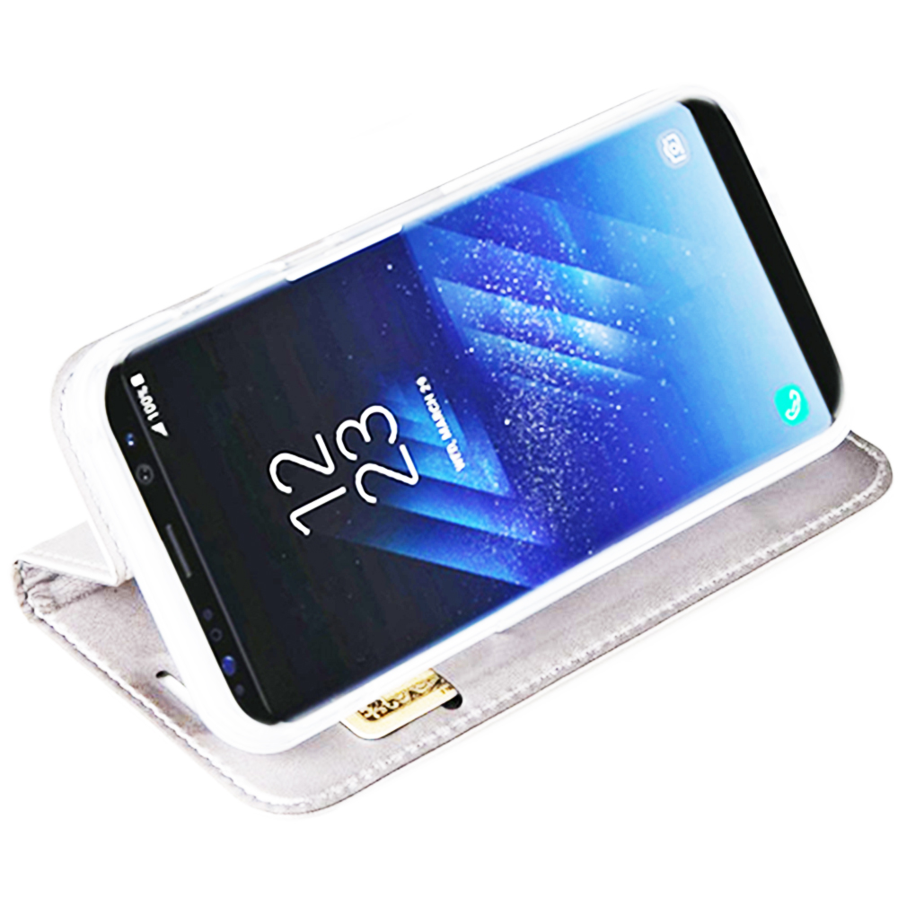 Husa Agenda Card Slot Alb SAMSUNG Galaxy S8 Plus