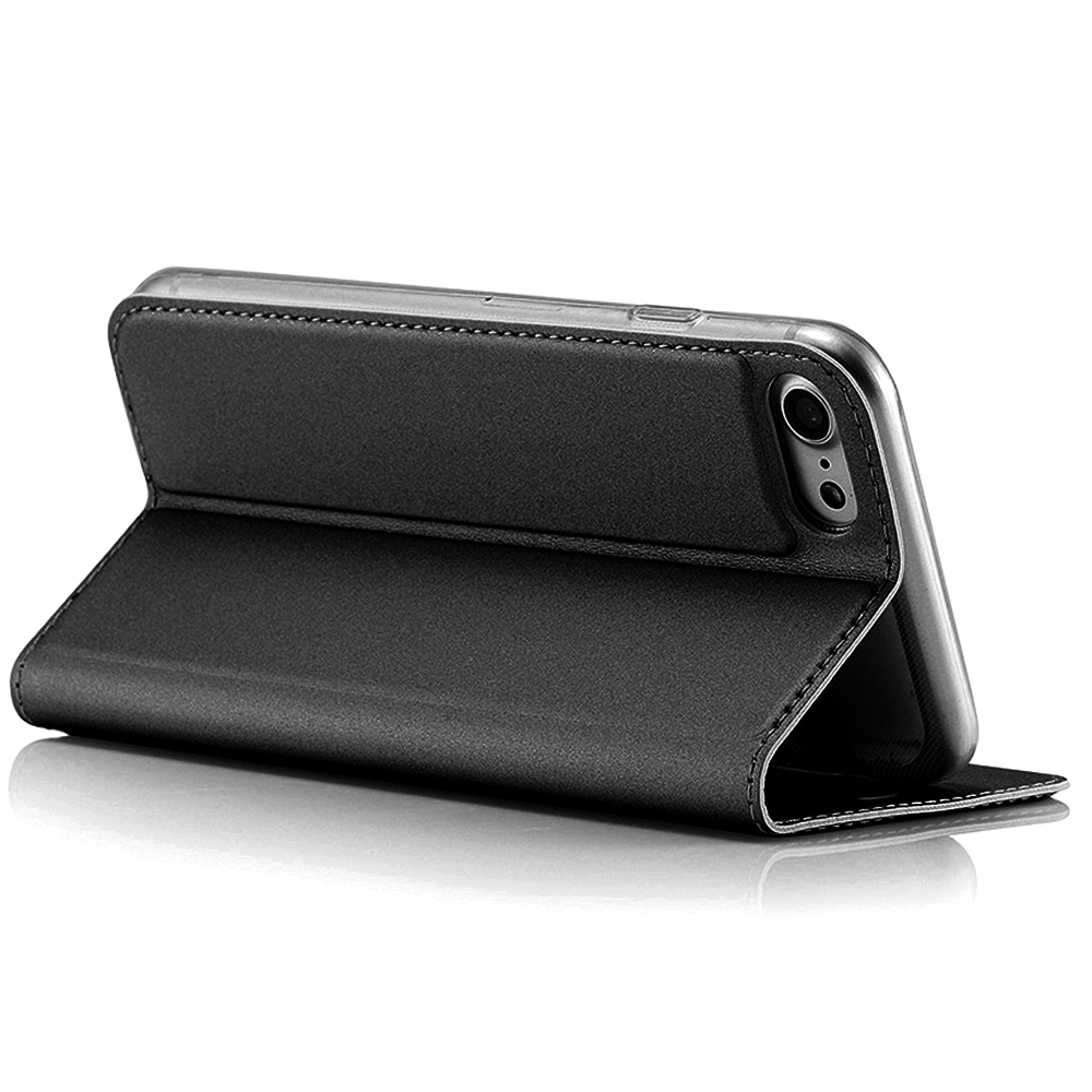 Husa Agenda Card Slot Negru Apple iPhone 7, iPhone 8, iPhone SE 2020