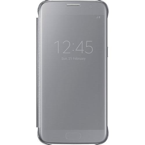 Husa Agenda Clear View Argintiu Samsung Galaxy S7