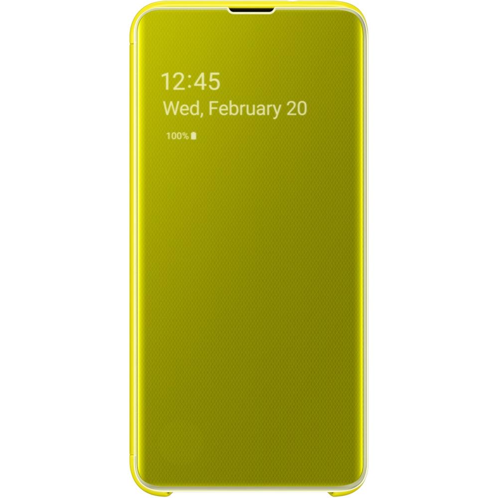 Husa Agenda Clear View Galben SAMSUNG Galaxy S10E