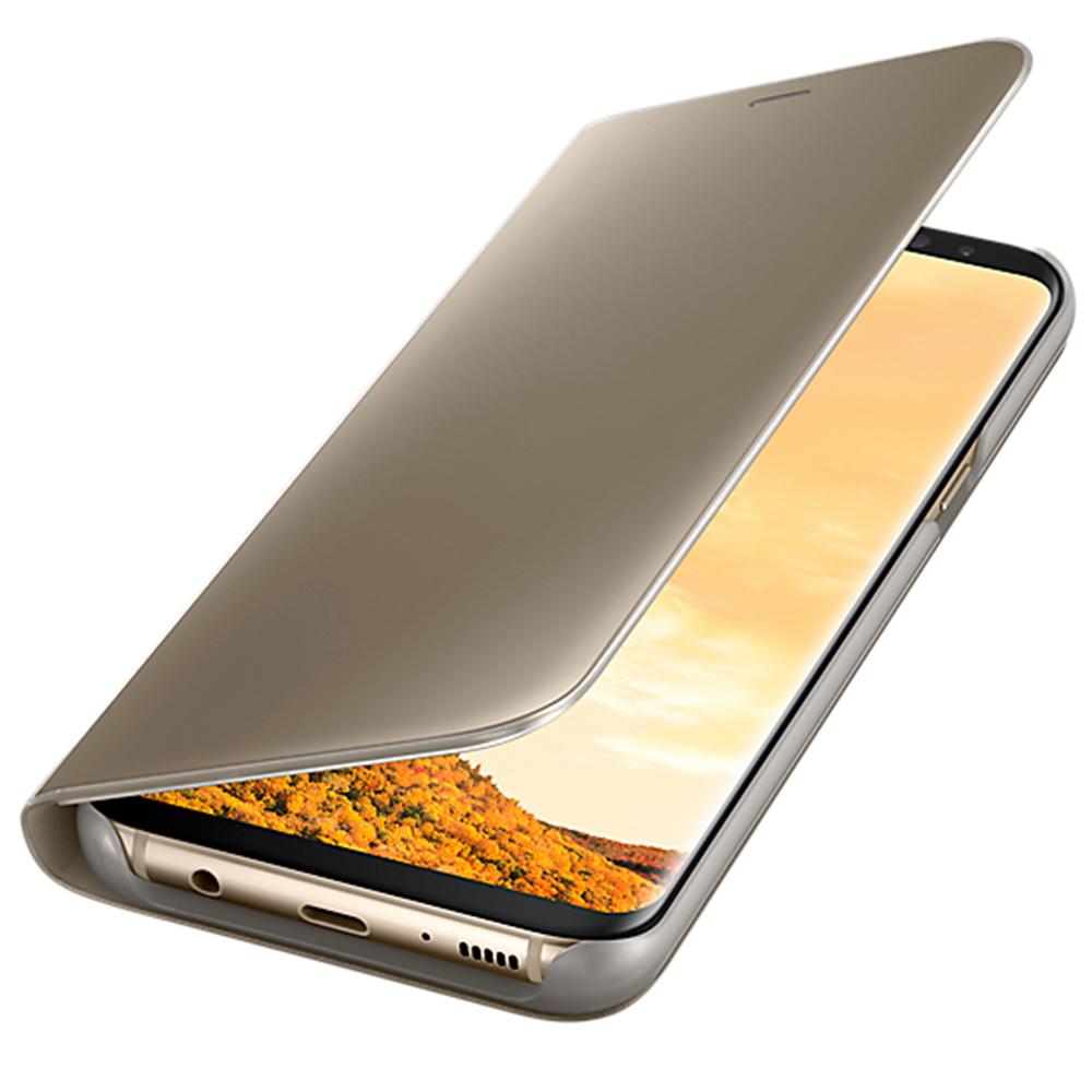 Husa Agenda Clear View Auriu SAMSUNG Galaxy S8 Plus