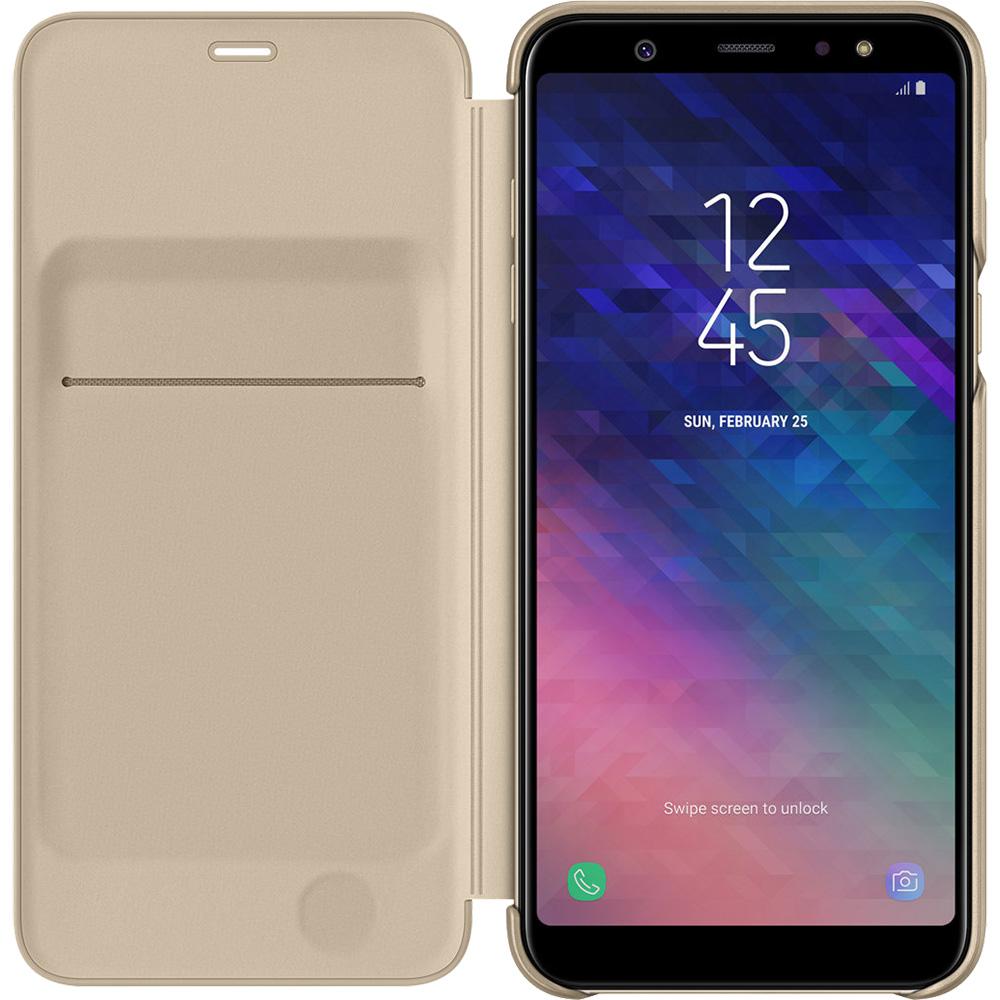 Husa Agenda Flip Wallet Auriu SAMSUNG Galaxy A6 Plus (2018)