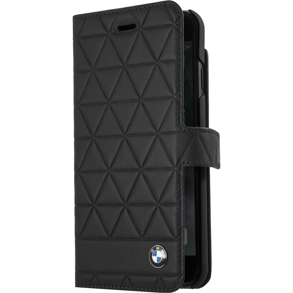 Husa Agenda Piele Hexagon Negru Apple iPhone 7 Plus, iPhone 8 Plus