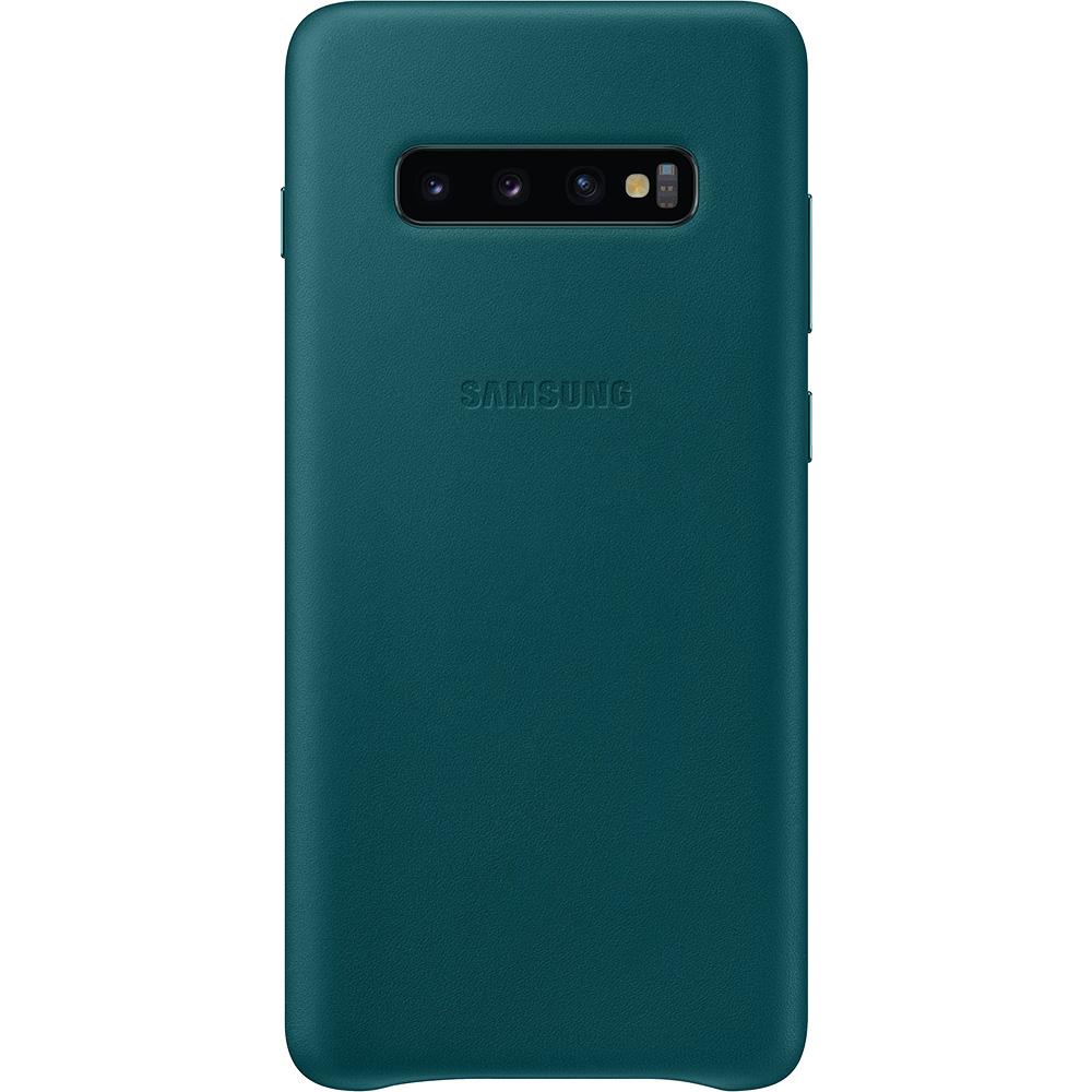 Husa Capac Spate Piele Verde SAMSUNG Galaxy S10 Plus