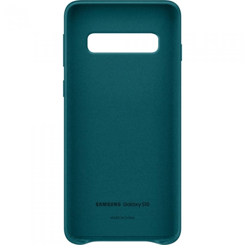 Husa Capac Spate Piele Verde SAMSUNG Galaxy S10