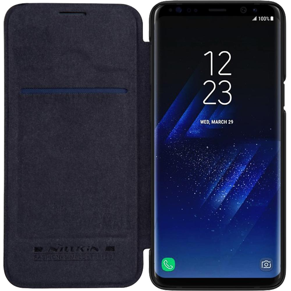 Husa Agenda Qin Piele Negru SAMSUNG Galaxy S9