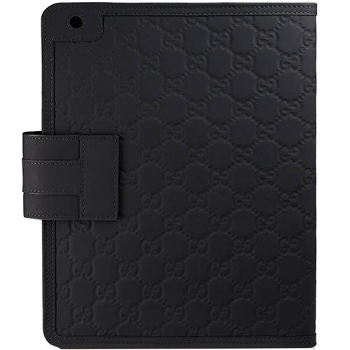 Husa Agenda Rubber Guccissima Piele Negru APPLE iPad 3, iPad 4 Retina