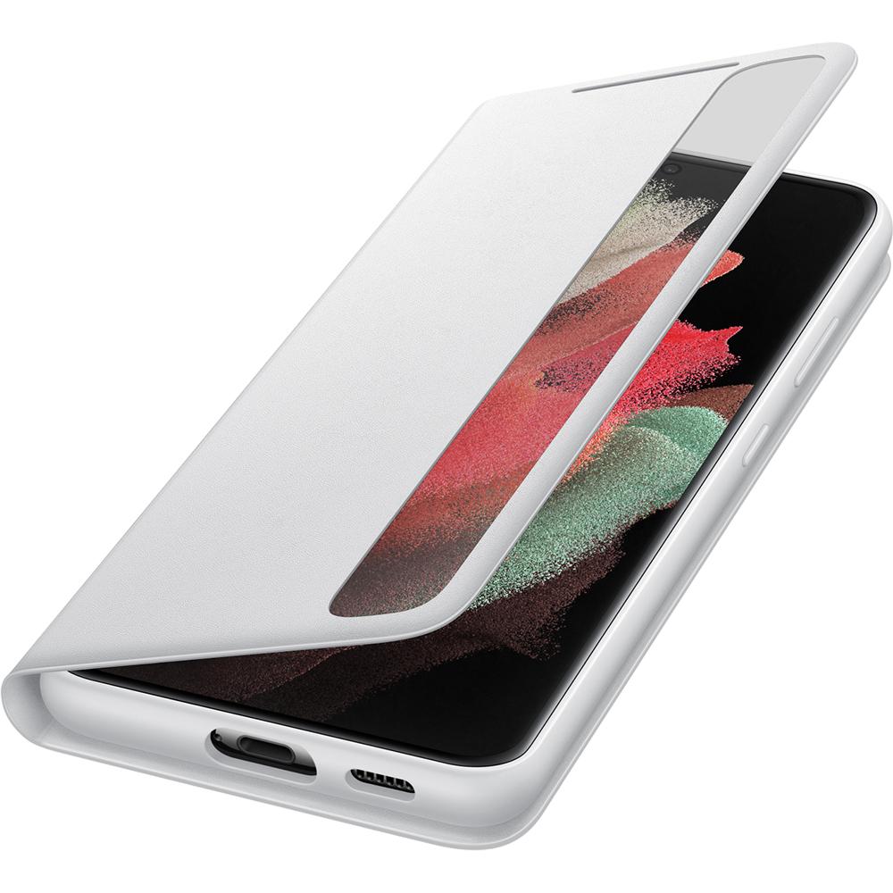 Husa Agenda Smart Clear View Cover Gri SAMSUNG Galaxy S21 Ultra