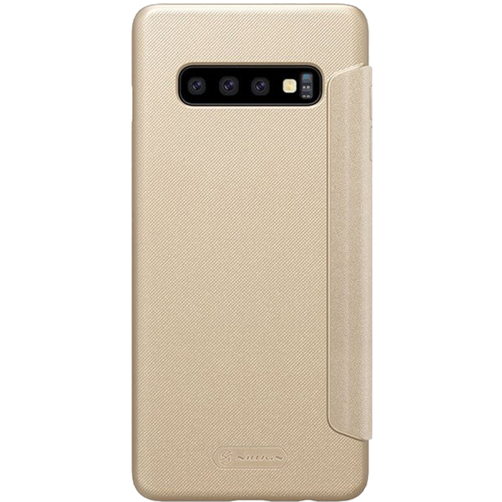 Husa Agenda Sparkle Piele Auriu SAMSUNG Galaxy S10 Plus