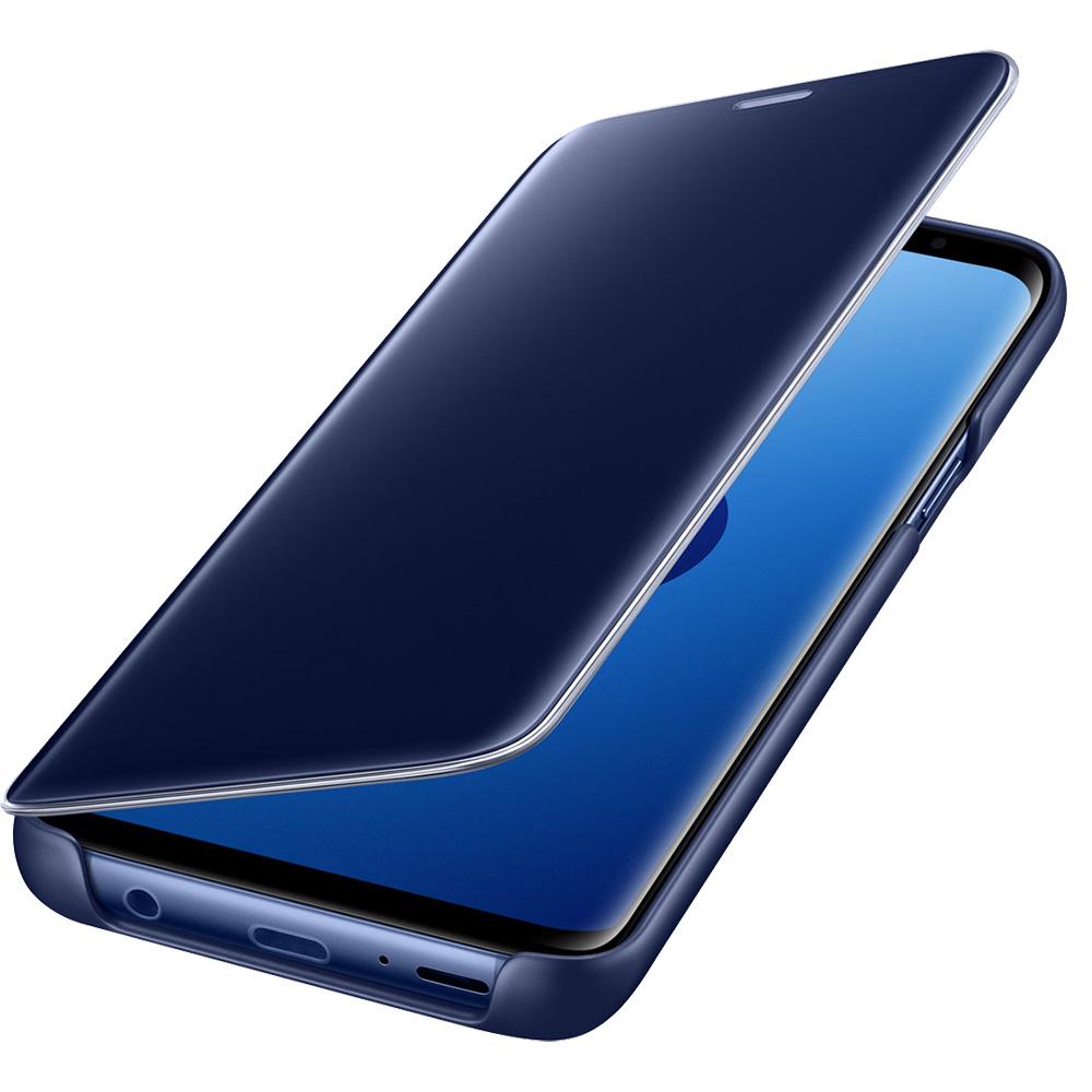 Husa Agenda Clear View Standing Albastru SAMSUNG Galaxy S9