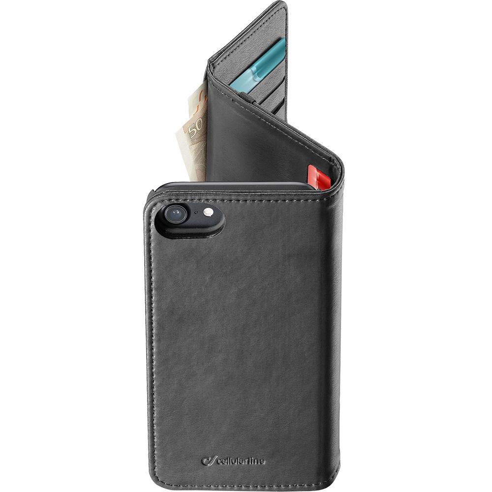Husa Agenda Wallet Negru Apple iPhone 7, iPhone 8