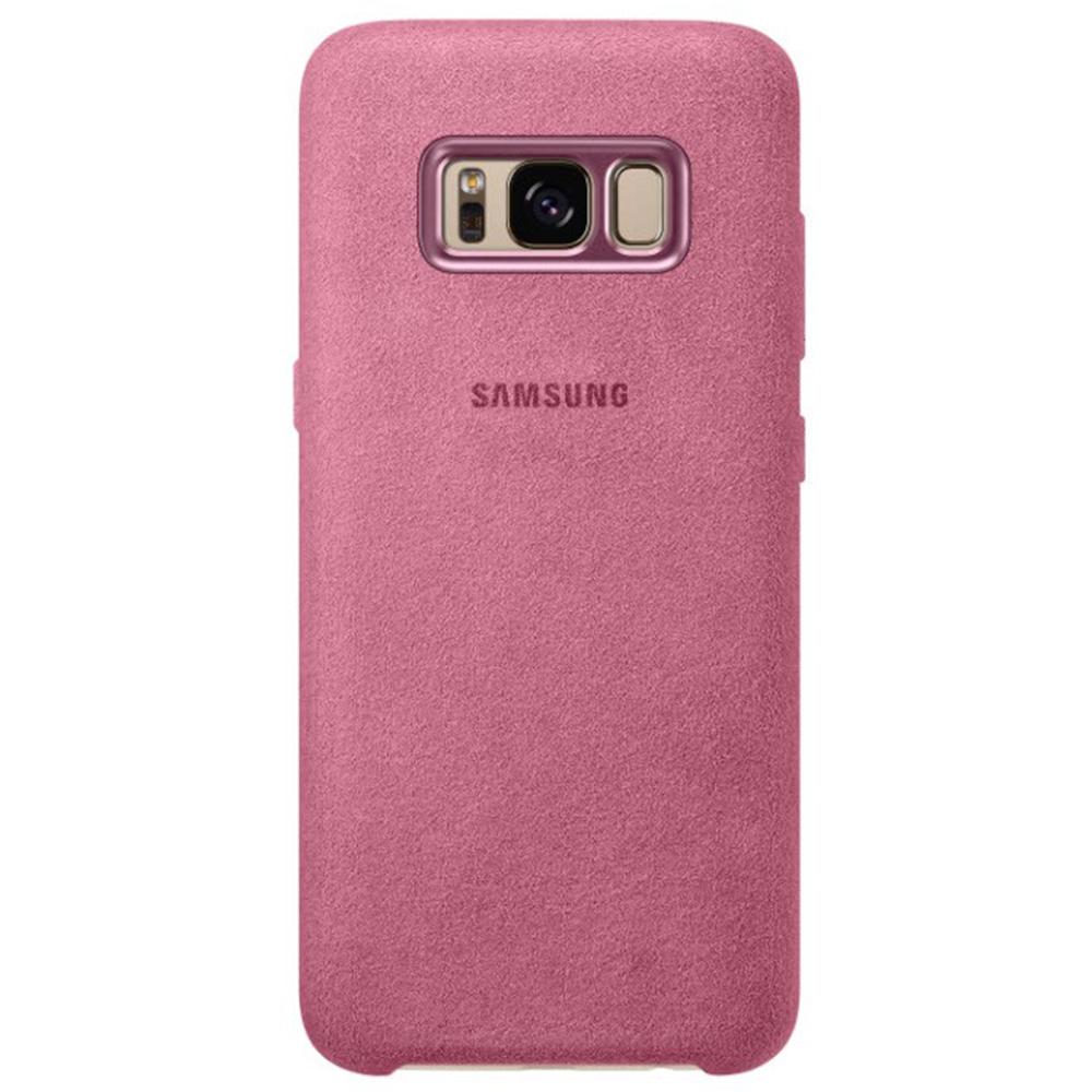 Husa Capac Spate Alcantara Roz SAMSUNG Galaxy S8 Plus