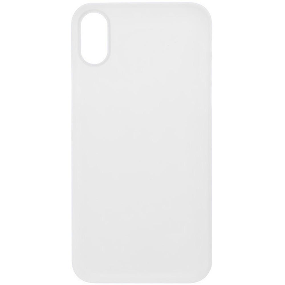 Husa Capac Spate 0.5 mm Ultra Slim Alb APPLE iPhone X, iPhone Xs