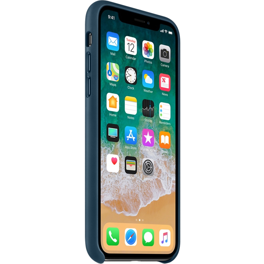 Husa Capac Spate Piele Albastru APPLE iPhone X