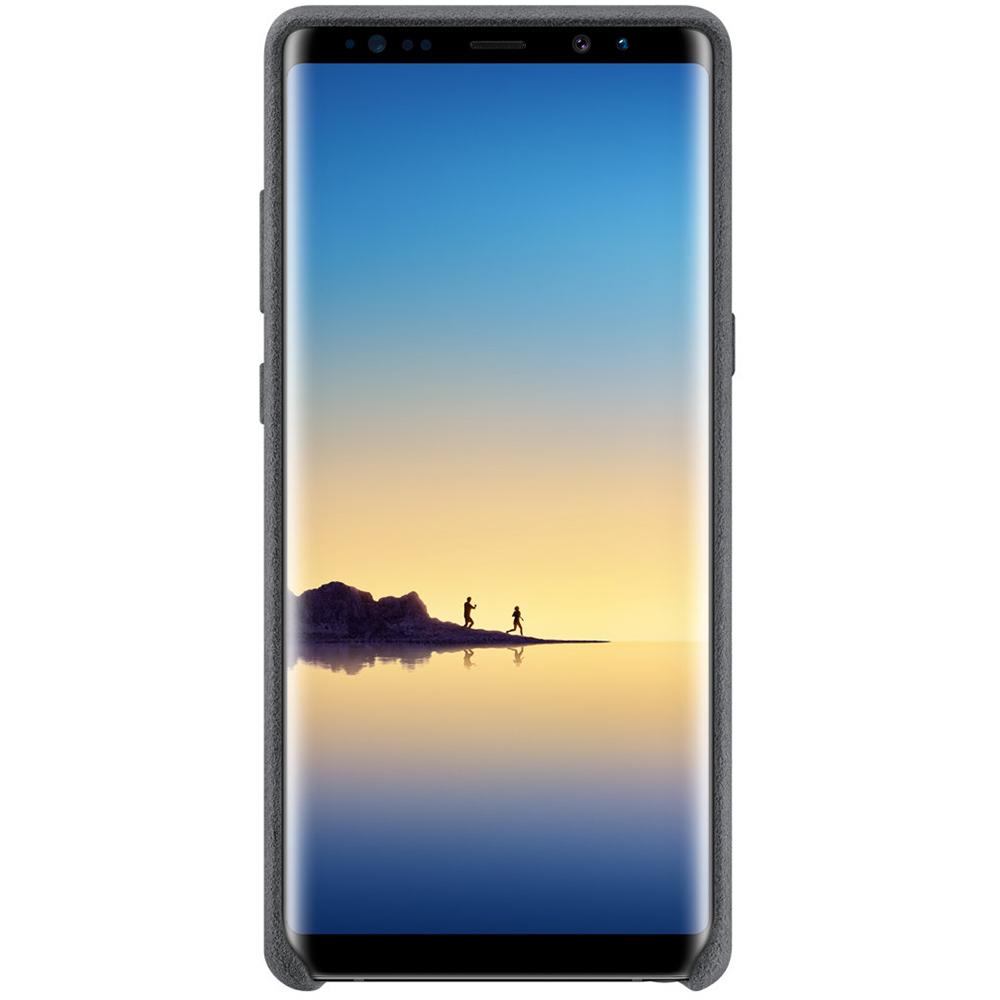 Husa Capac Spate Alcantara Gri SAMSUNG Galaxy Note 8