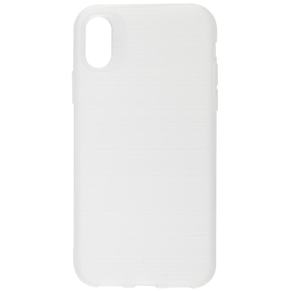 Husa Capac spate Brush Alb APPLE iPhone X, iPhone Xs