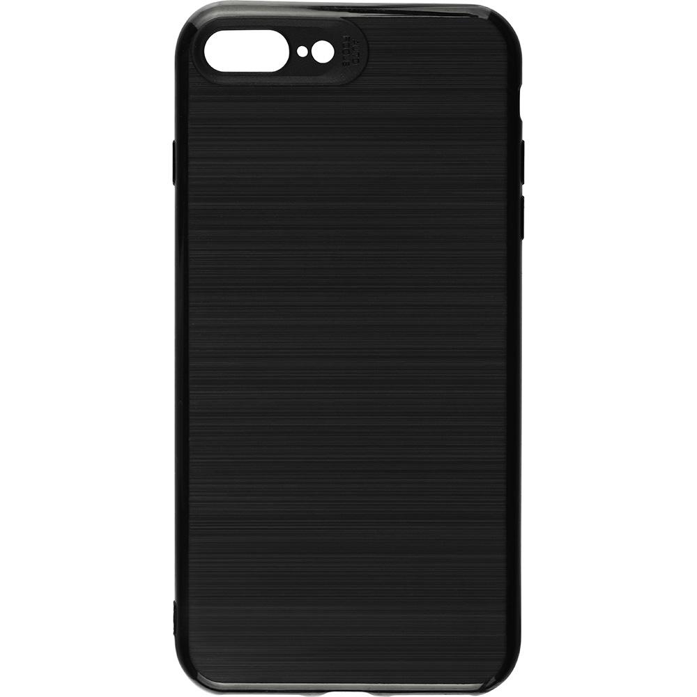 Husa Capac spate Brush Negru Apple iPhone 7 Plus, iPhone 8 Plus