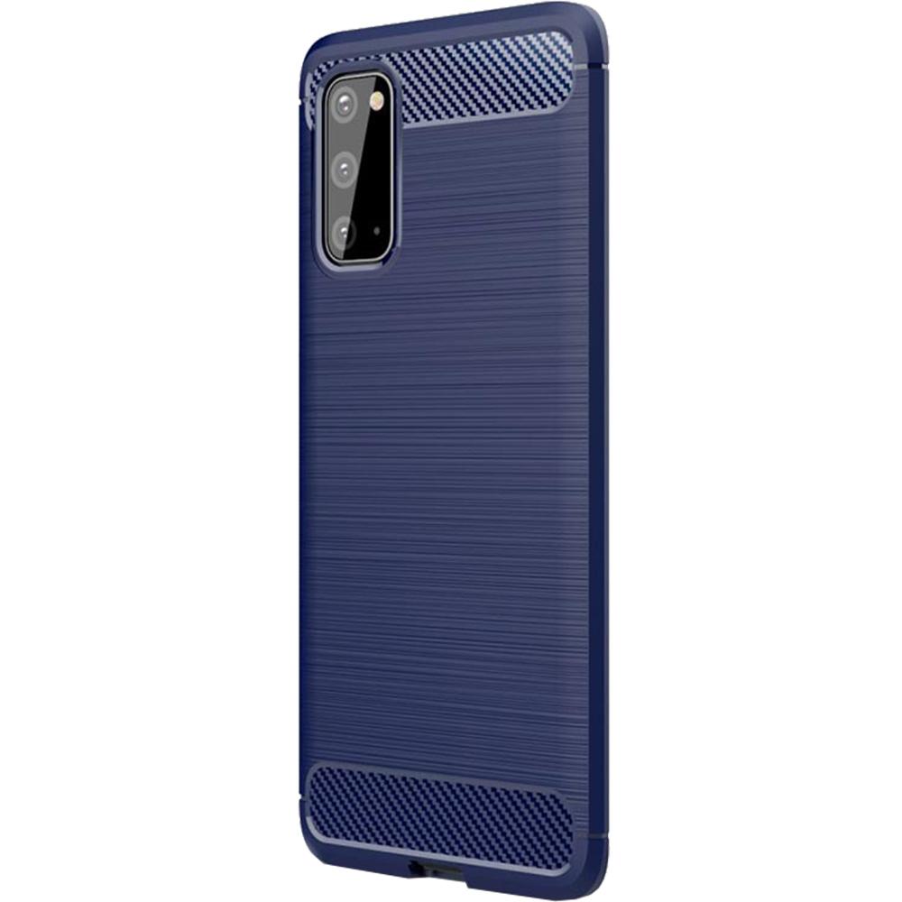 Husa Capac Spate Carbon Albastru SAMSUNG Galaxy S20