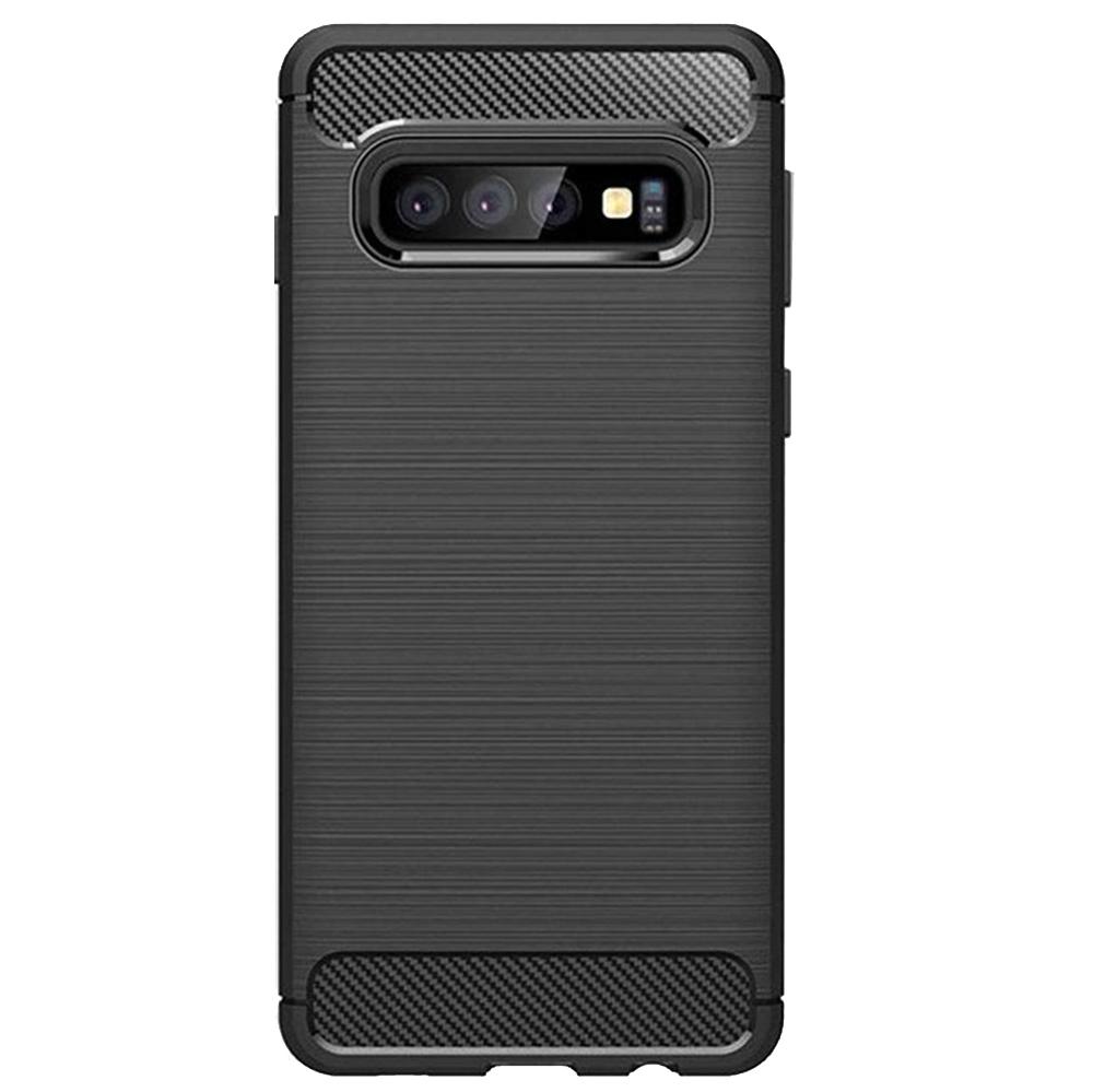 Husa Capac Spate Carbon Flexible Negru SAMSUNG Galaxy S10 Plus