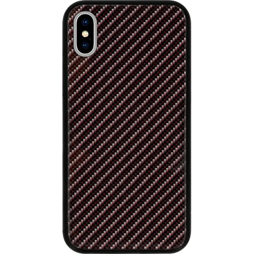Husa Capac Spate Carbon Glass Gri APPLE iPhone X