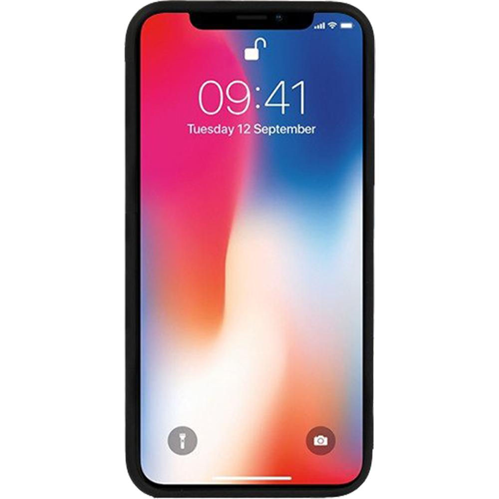 Husa Capac Spate Carbon Glass Negru APPLE iPhone X